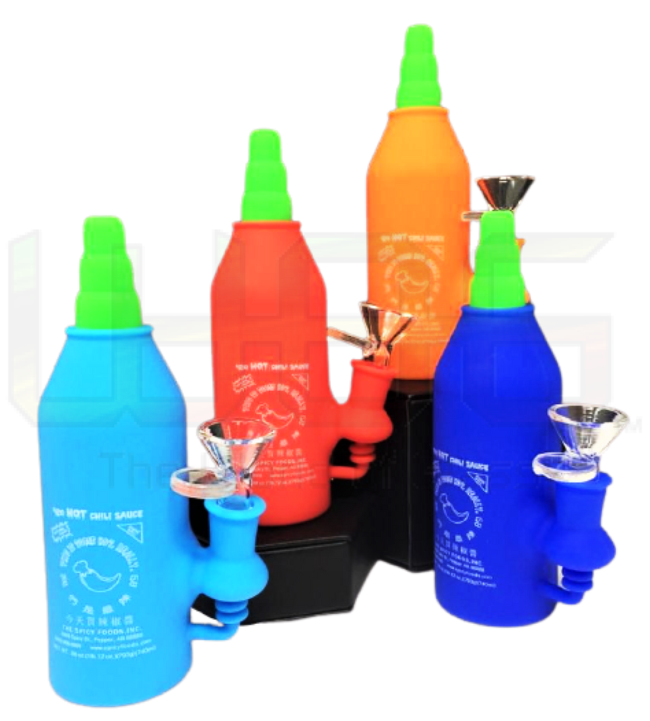 "6"" Silicone Three Parts Hot Sauce Water Pipe"