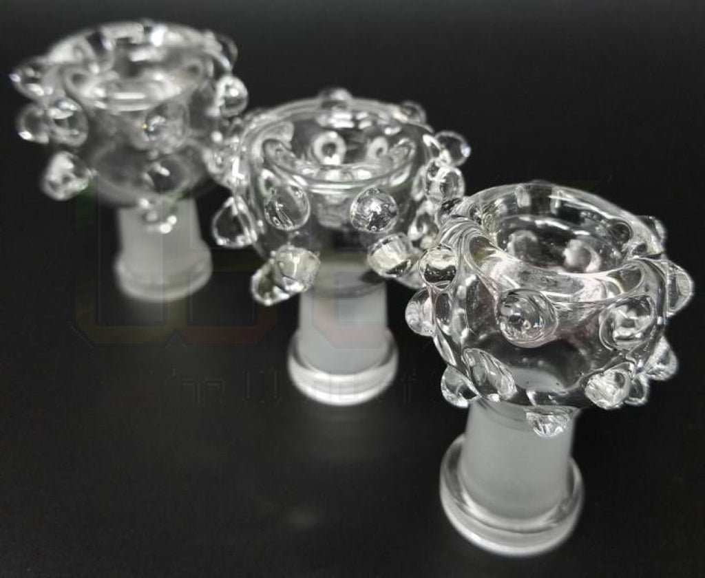 2.25 Clear Studded Dry Bowl 14Mm (F) Water Pipe Accessory
