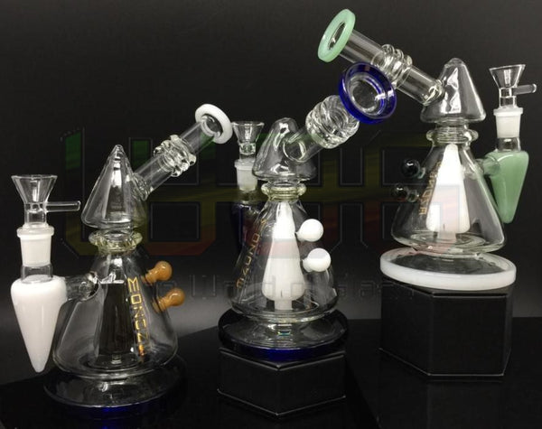 9 Gold Mozone Sidecar Cone Color Trim Water Pipe