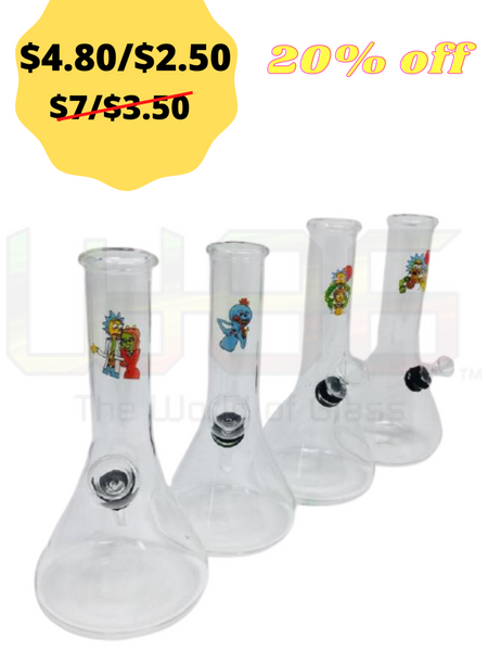 "5 Or 7"" RM Clear Traveler Water pipe"