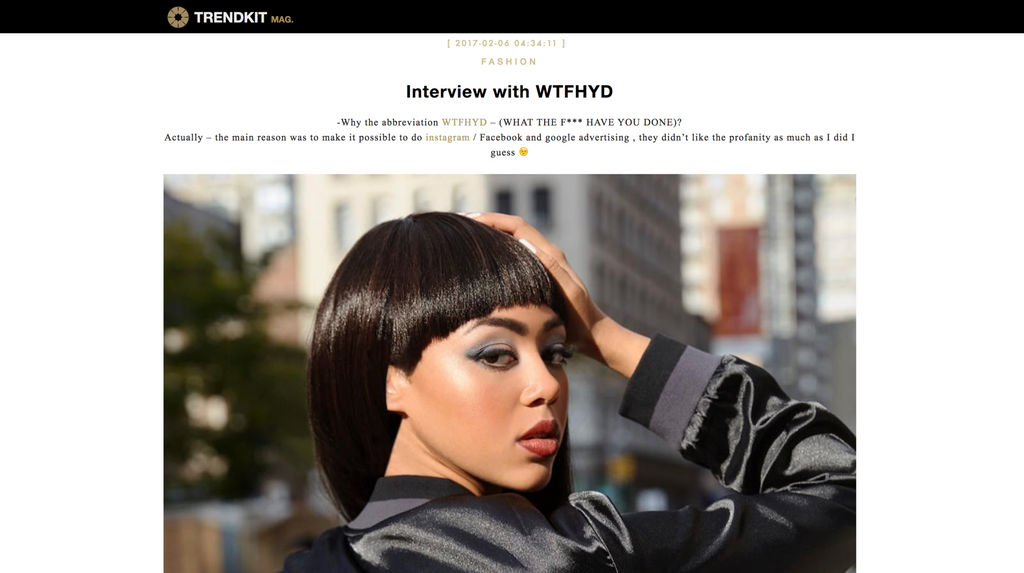 Trendkit - Feature and Interview with wtfhyd