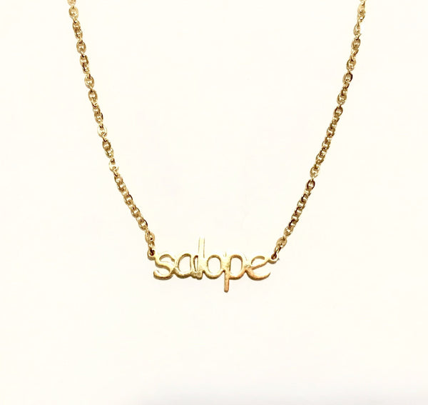14K Gold 'salope' Necklace