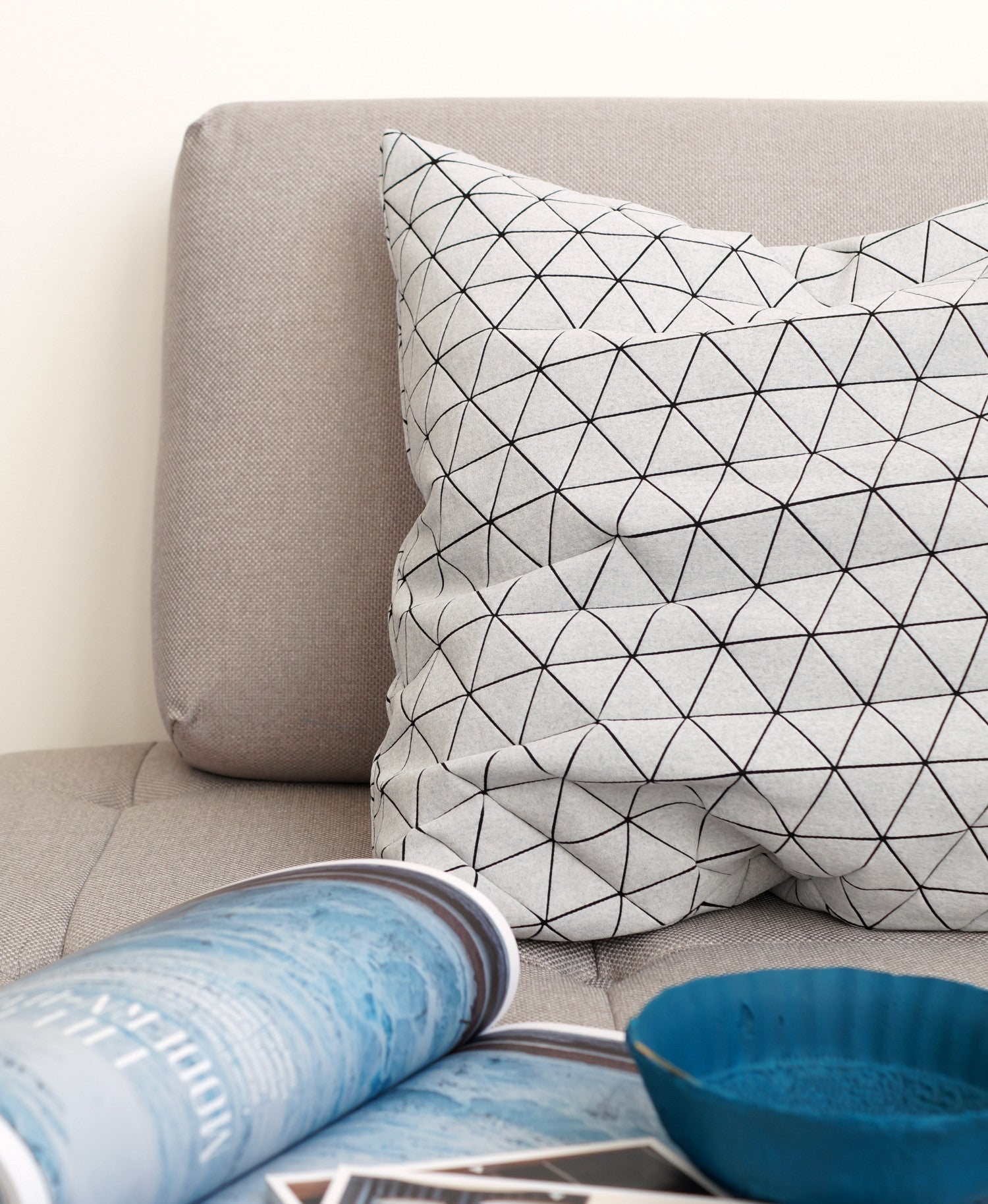 Grey Origami Cushion Cover