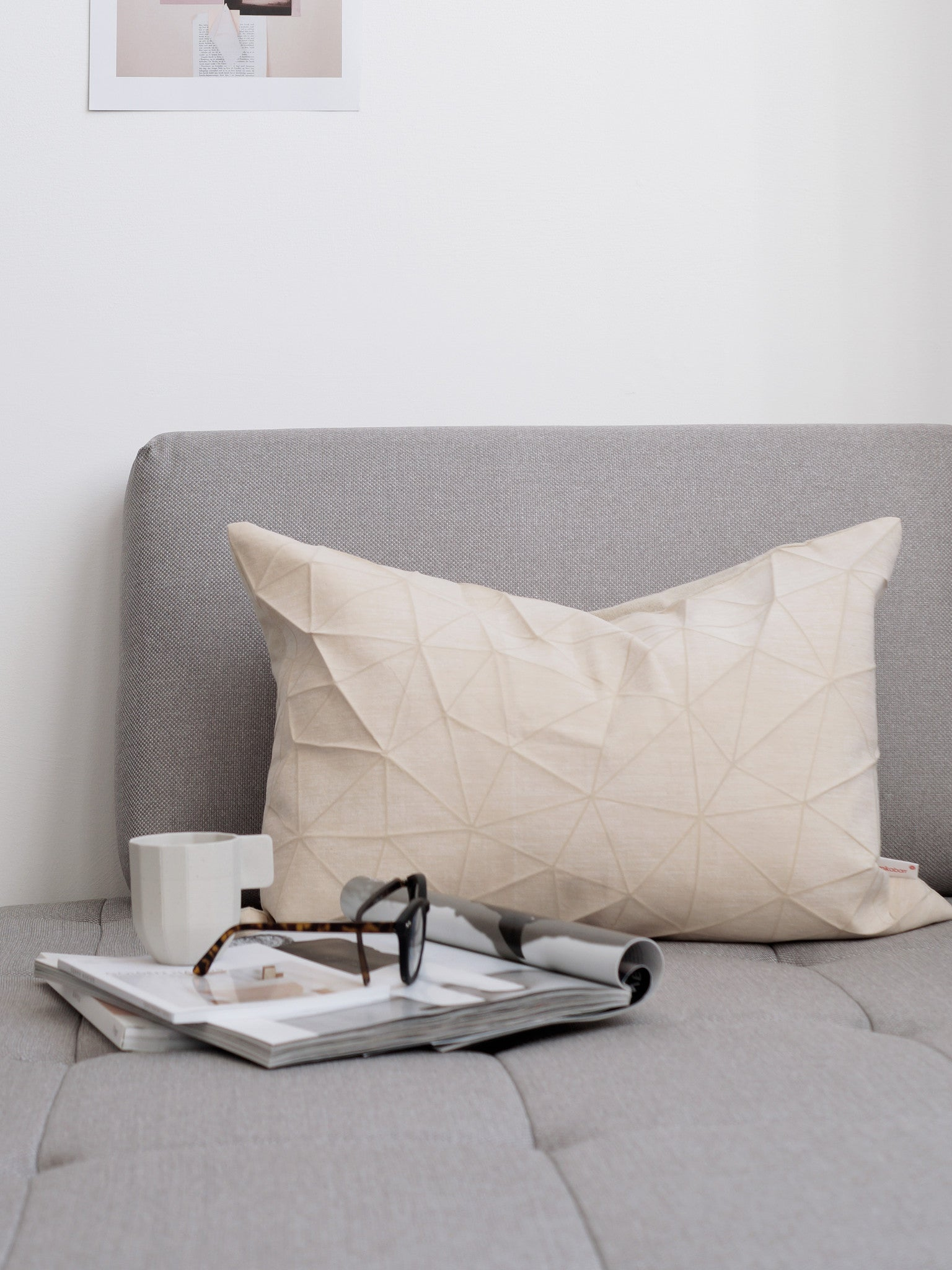 Nude Origami Cushion Cover