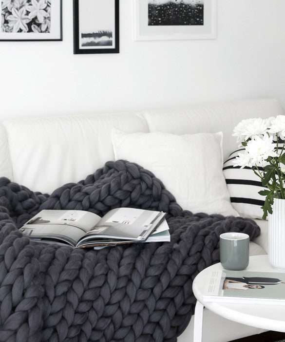 Large Blanket, Dark Grey