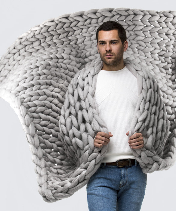 Large Blanket, Light Grey
