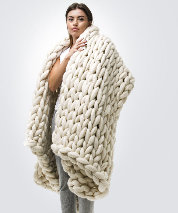 Large Blanket, White
