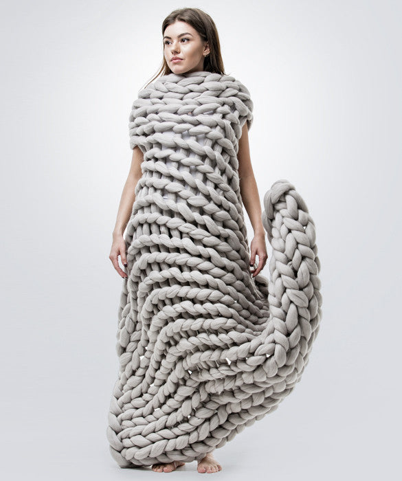 Medium Blanket, Light Grey