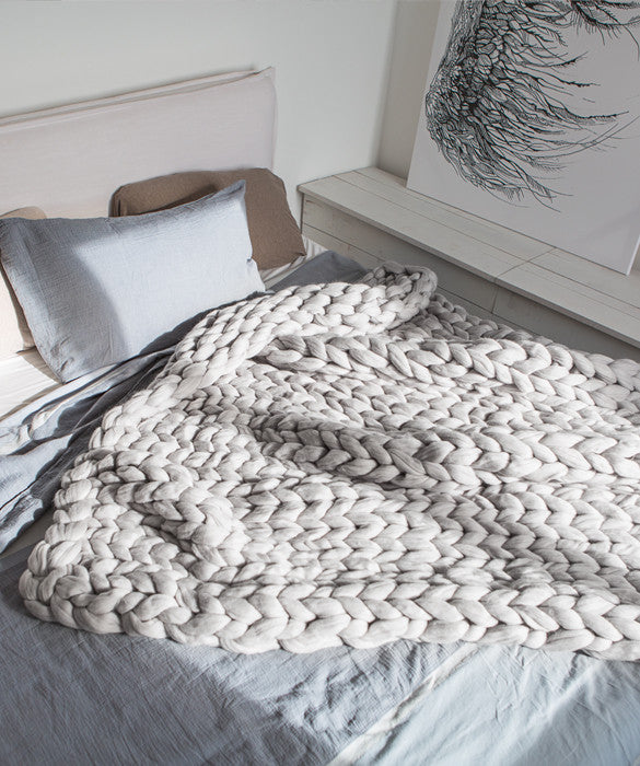 Extra Large Blanket, Light Grey