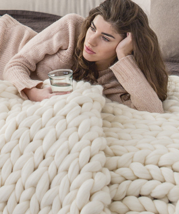 Extra Large Blanket, White