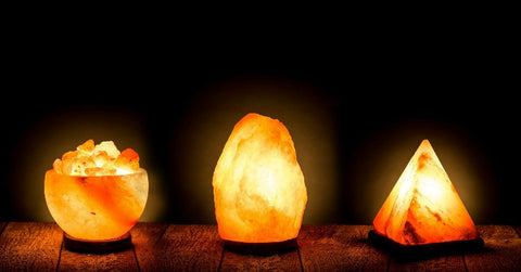 Contemporary designed pink Himalayan Salt Lamps by Hazantree