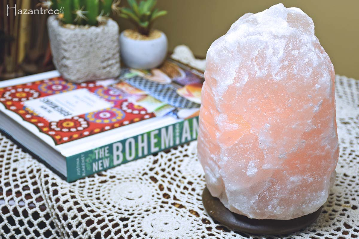 Small Himalayan Salt Lamps : Rare White Himalayan Salt Lamp- Small by Hazantree