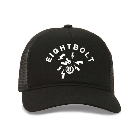 Black/Black Logo Trucker