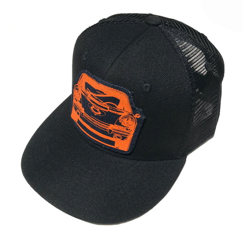 911Front Trucker cap-Orange