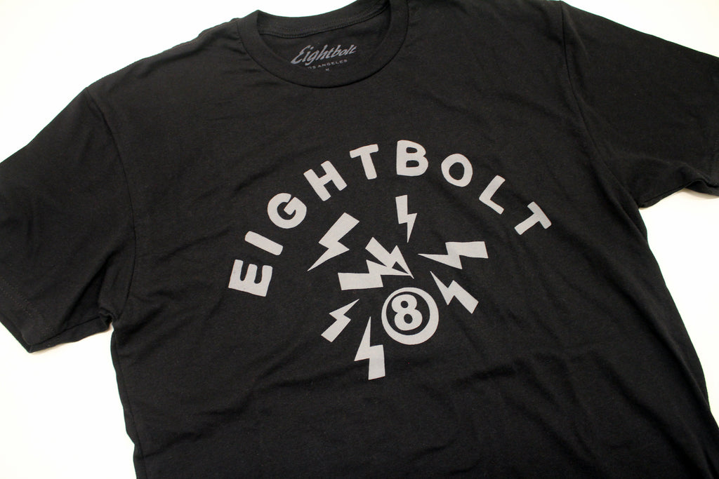 "Black ""Lightning Bolt"" tee shirt"