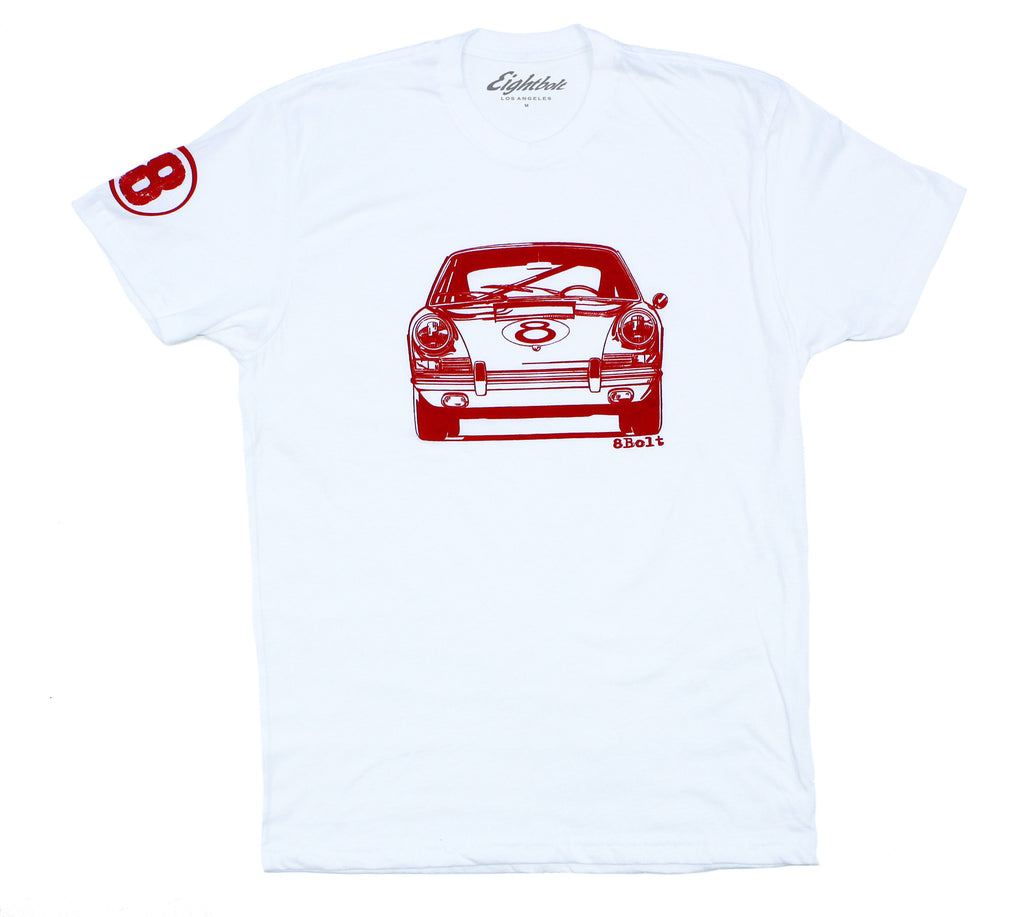 911 Front White t-shirt