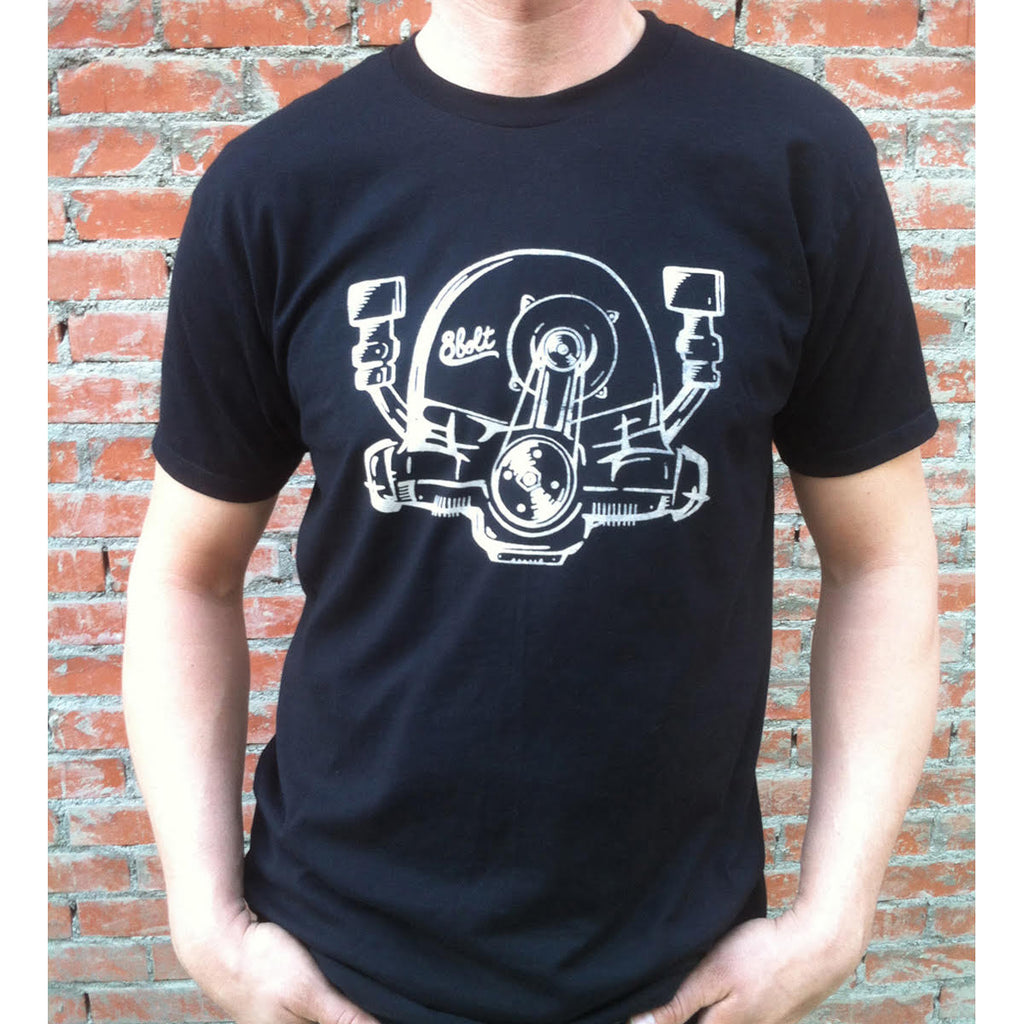 Aircooled Engine Black t-shirt