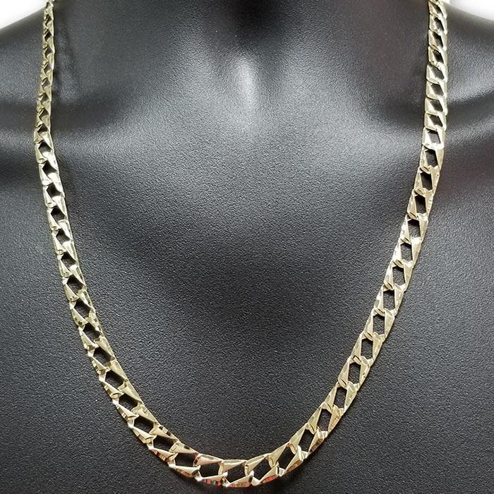 Chaine 10K Diamond Cut Pour Homme MGC-056 | Handmade chain for men in 10K gold-Gold Custom