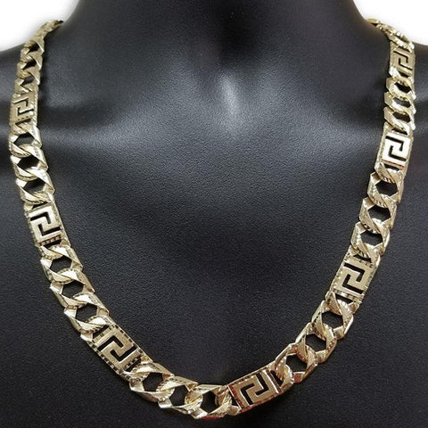 10k Chaine en or Versace Homme MGC-052 | 10K Gold Versace Chain for men-Gold Custom