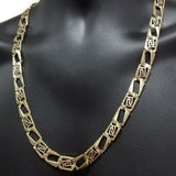 10k Chaine Versace Or Jaune Diamond Cut Homme MGC-053 | Diamond Cut Men's Versace Chain in yellow gold 10K-Gold Custom