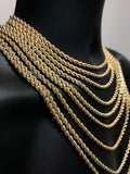 10K Gold Rope Chain 4mm for men | Chaine en or pour homme 4mm en or 10 kt-Gold Custom