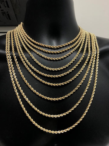10K Gold Rope Chain 4mm for men | Chaine en or pour homme 4mm en or 10 kt - Torsade semi-solide-Gold Custom