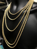 10K Gold Rope Chain for men 5mm | Chaine pour lui 5mm en or 10kt-Gold Custom