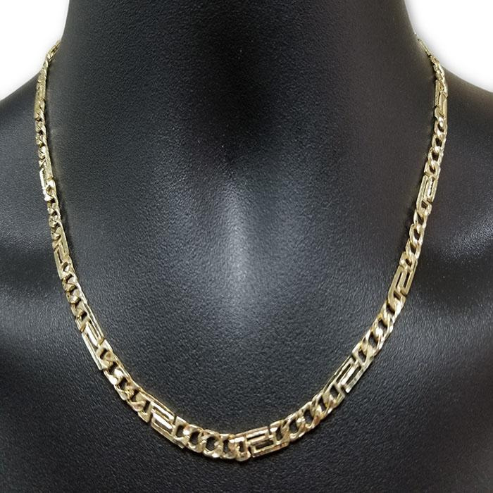 10k Or Jaune Chaine Versace Homme MGC-067 | Versace yellow gold 10K Chain for men-Gold Custom