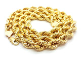 10K Solid Yellow Gold 10MM Rope Chain Necklace | Chaine en or jaune 10K pour homme 10MM-Gold Custom