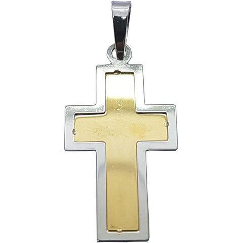 10K Solid Yellow Gold Crwys Religious Cross Pendant - orquebec