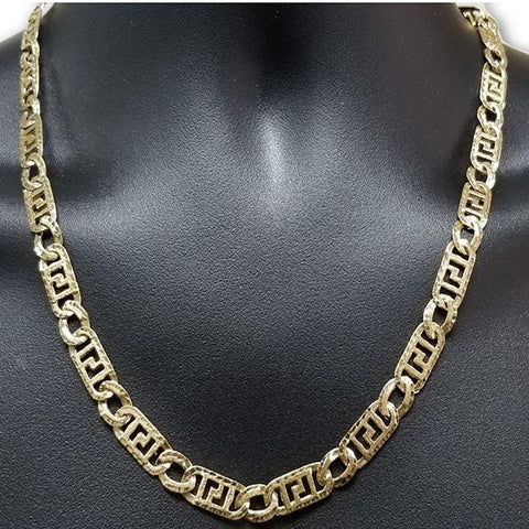10K Versace 8.5MM Chaine Homme MGC-043 | Chain for him in gold 10K Versace 8.5MM-Gold Custom