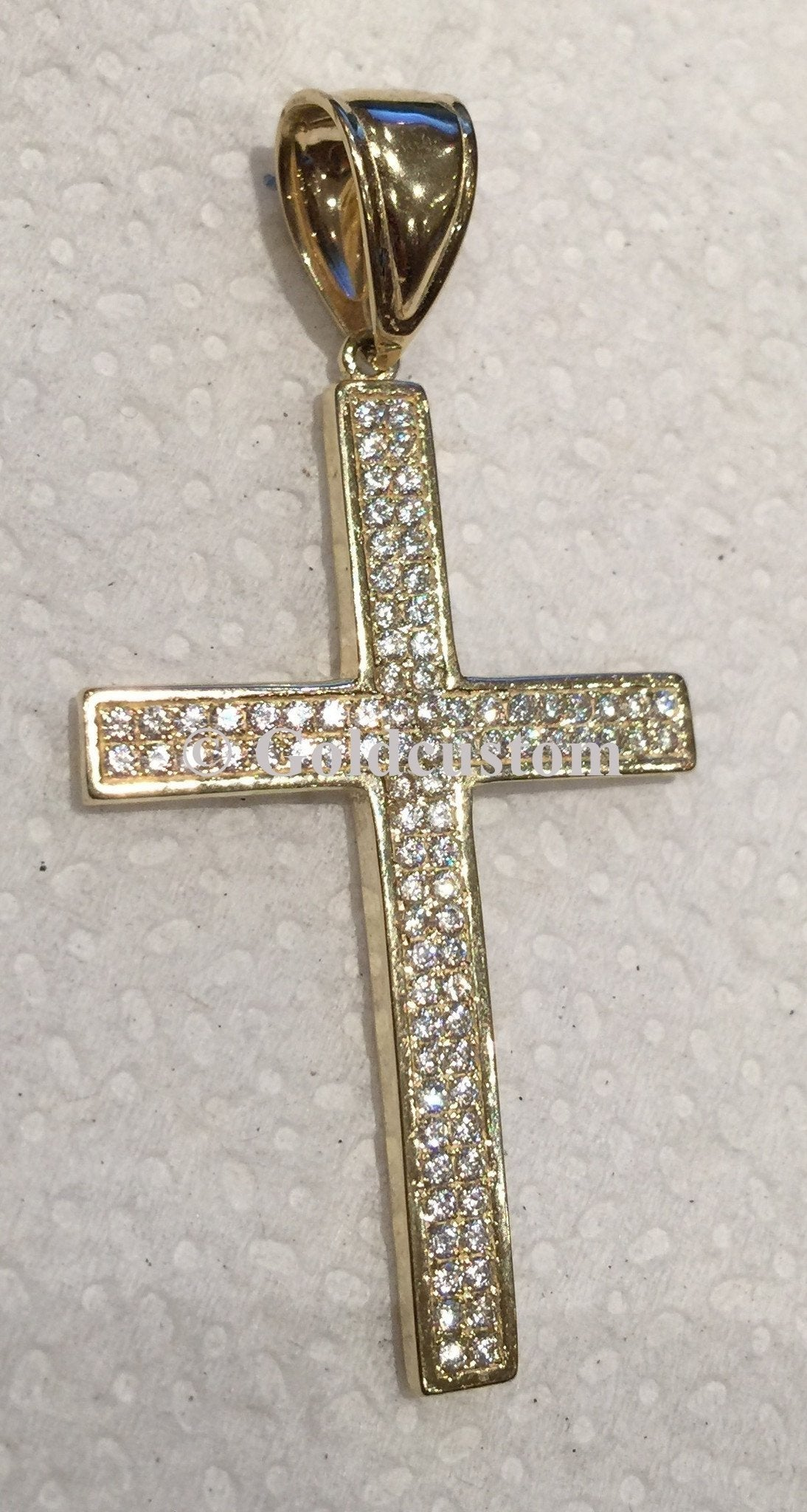 10k Yellow Gold Cross Florencia Pendant 4.02 gram Men Pendant - orquebec