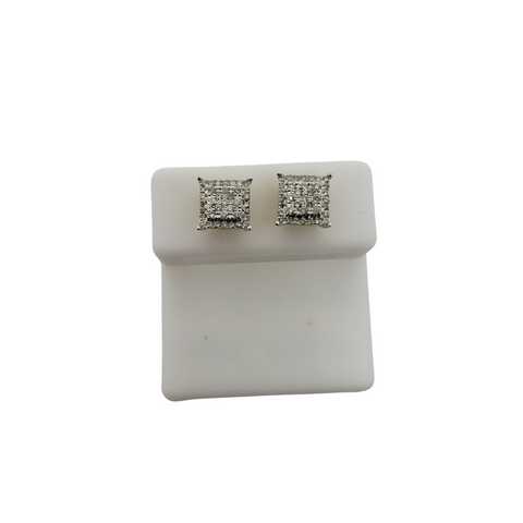 10K 0.50CT Diamond Stud Screw Back Earring DE-043