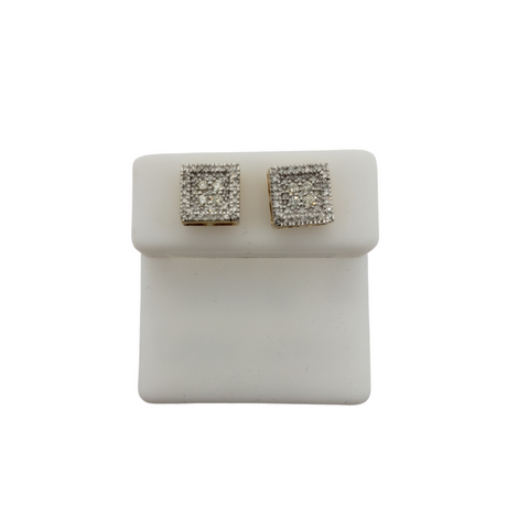 10K 0.40CT Diamond Stud Screw Back Earring DE-044