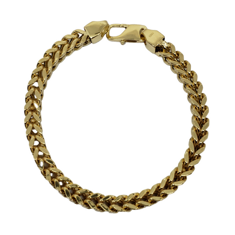 Bracelet Franco 6.5mm en or 10k Italien | Franco Bracelet for Men 6.5mm Italian Yellow Gold 10k B-FR65