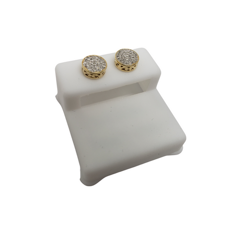 10K 0.20CT Diamond Stud Screw Back Earring DE-038