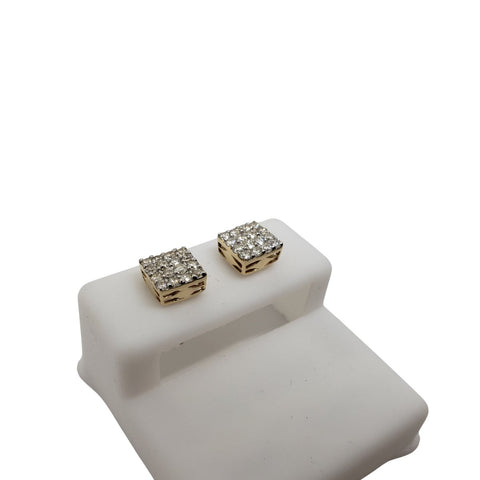 10K 0.55CT Diamond Stud Screw Back Earring DE-048