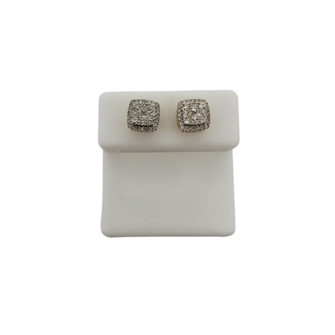 10K 0.10CT Diamond Stud Screw Back Earring DE-047