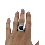 Bague Arcadia Blue en or 10k model 2020 LA012