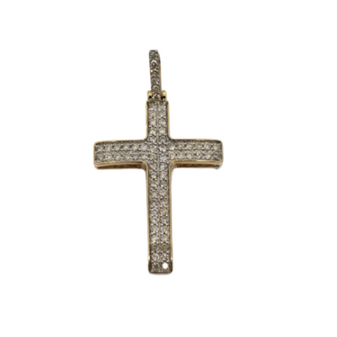 Croix 0.50ct diamants en or 10K 2020