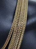 Chaine Franco en or jaune 10k 5mm Italien | Gold Chain Necklace 5mm for Men in Italian Gold 10kt-Gold Custom