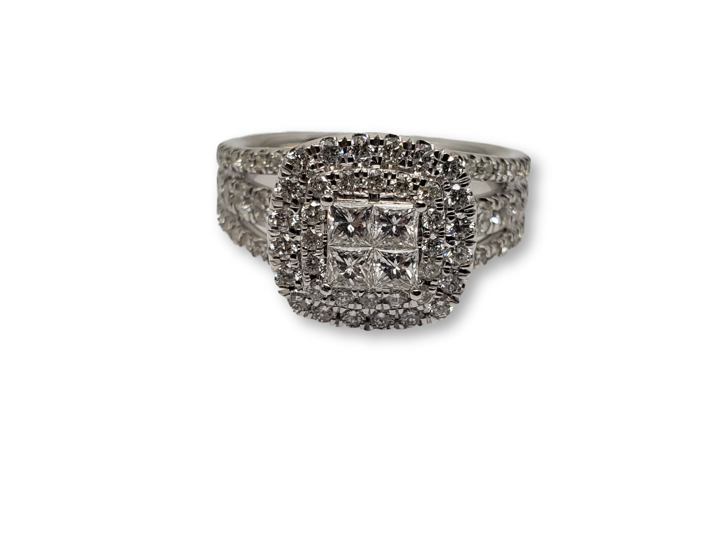 Bague Luckyy 1.50ct de diamants en or blanc 10k