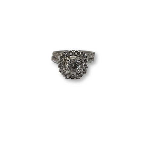 Bague Ellanar 2.00 de diamants en or blanc 14k