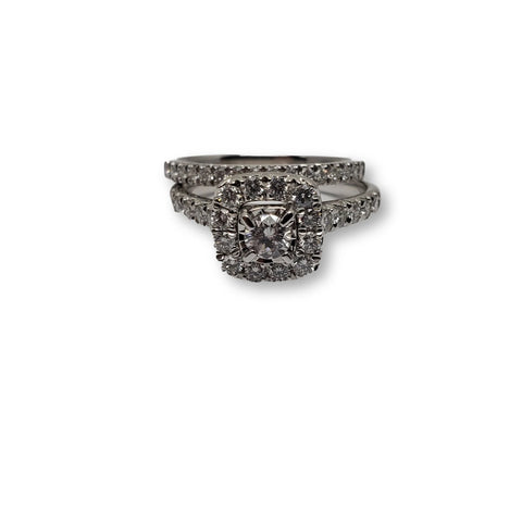 Bague lucia 1.00ct diamants en or blanc 10k