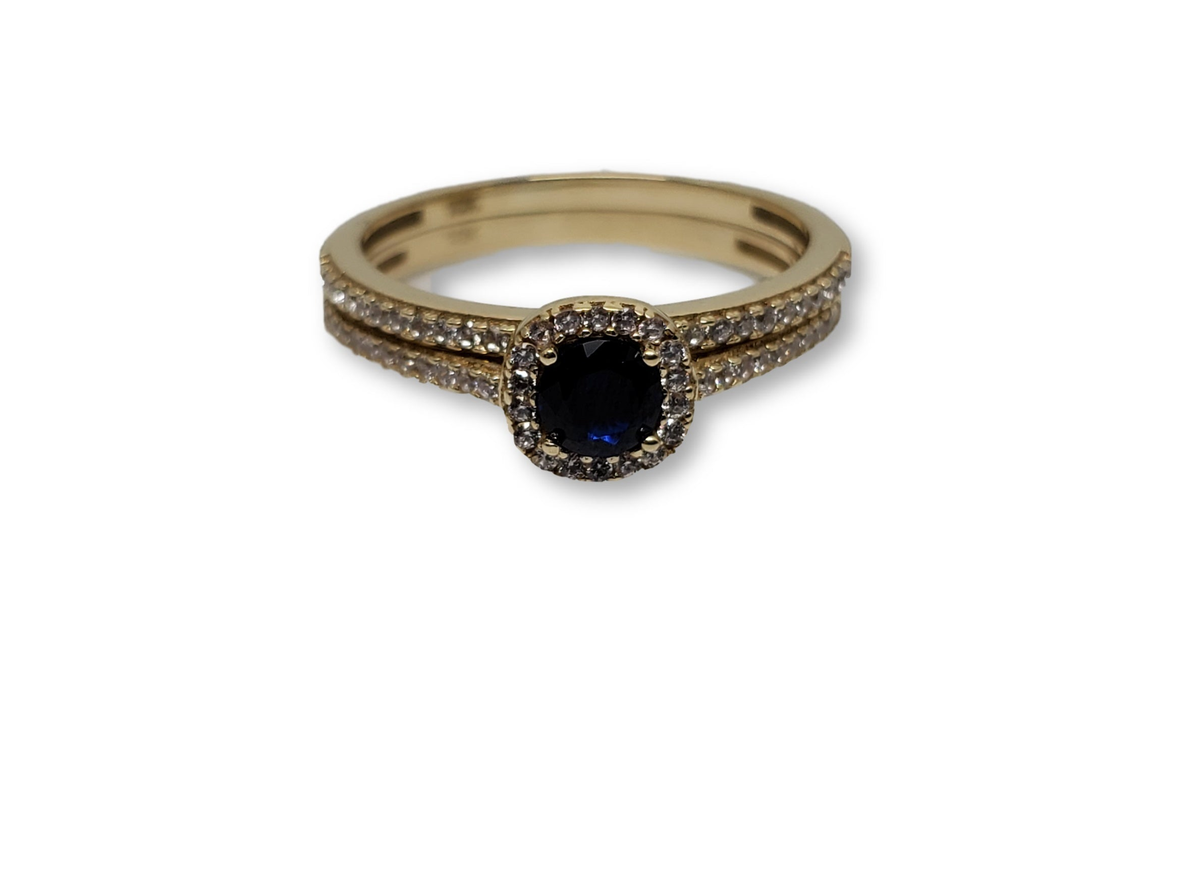 Bague ronde bleu en or 10k model 2020
