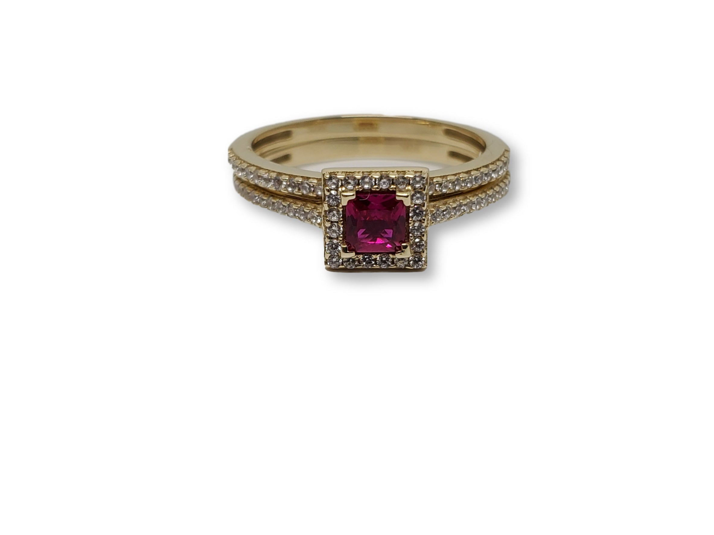 Bague Halo Rouge 10k model 2020