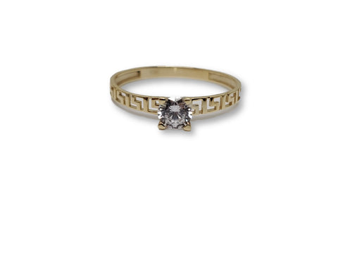 Bague solitaire versace en or 10k model 2020