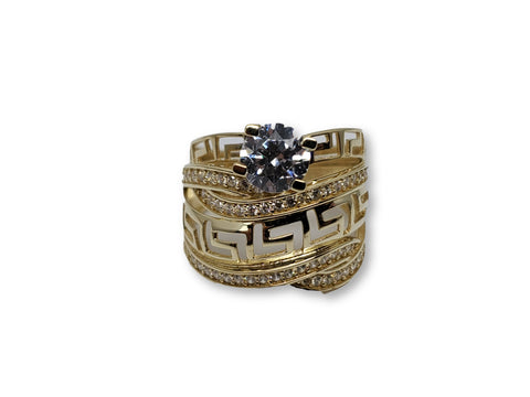 Bague versace double en or 10k model 2020