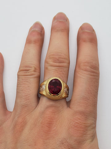 Bague versace Ruby rouge en or 10k model 2020