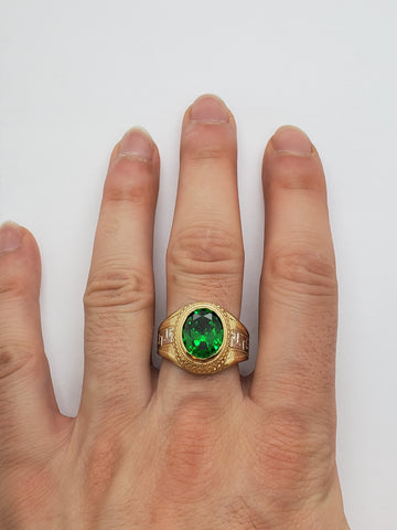 Bague versace pierre vert en or 10k model 2020